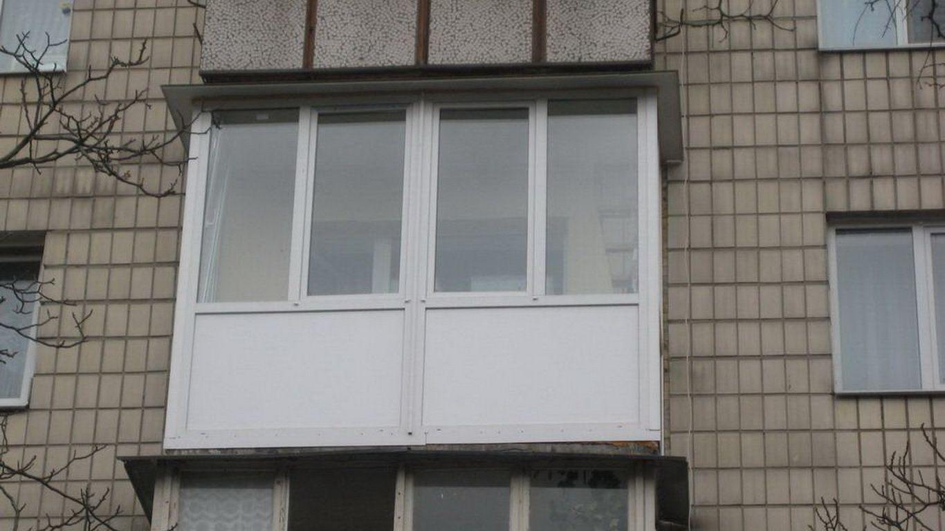Остекление балкона металлопластиком вид фото.