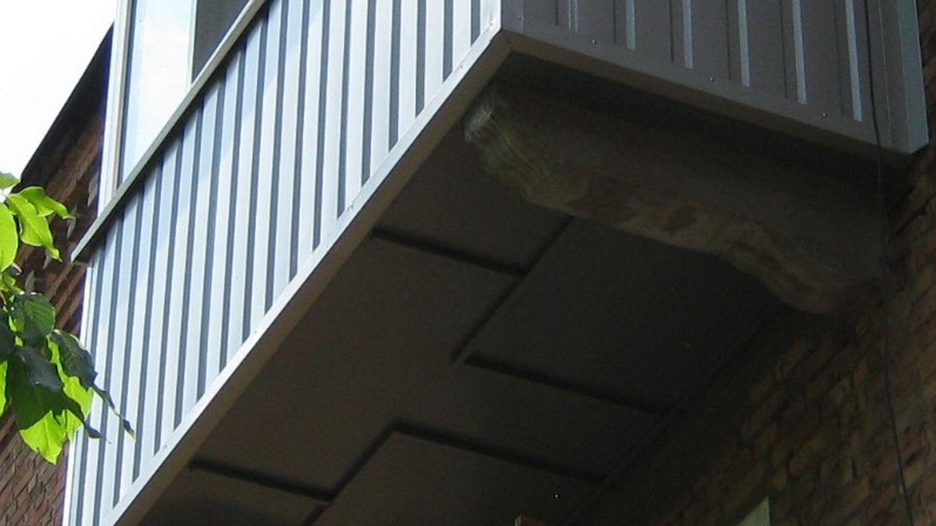 Обшить балкон профлистом.