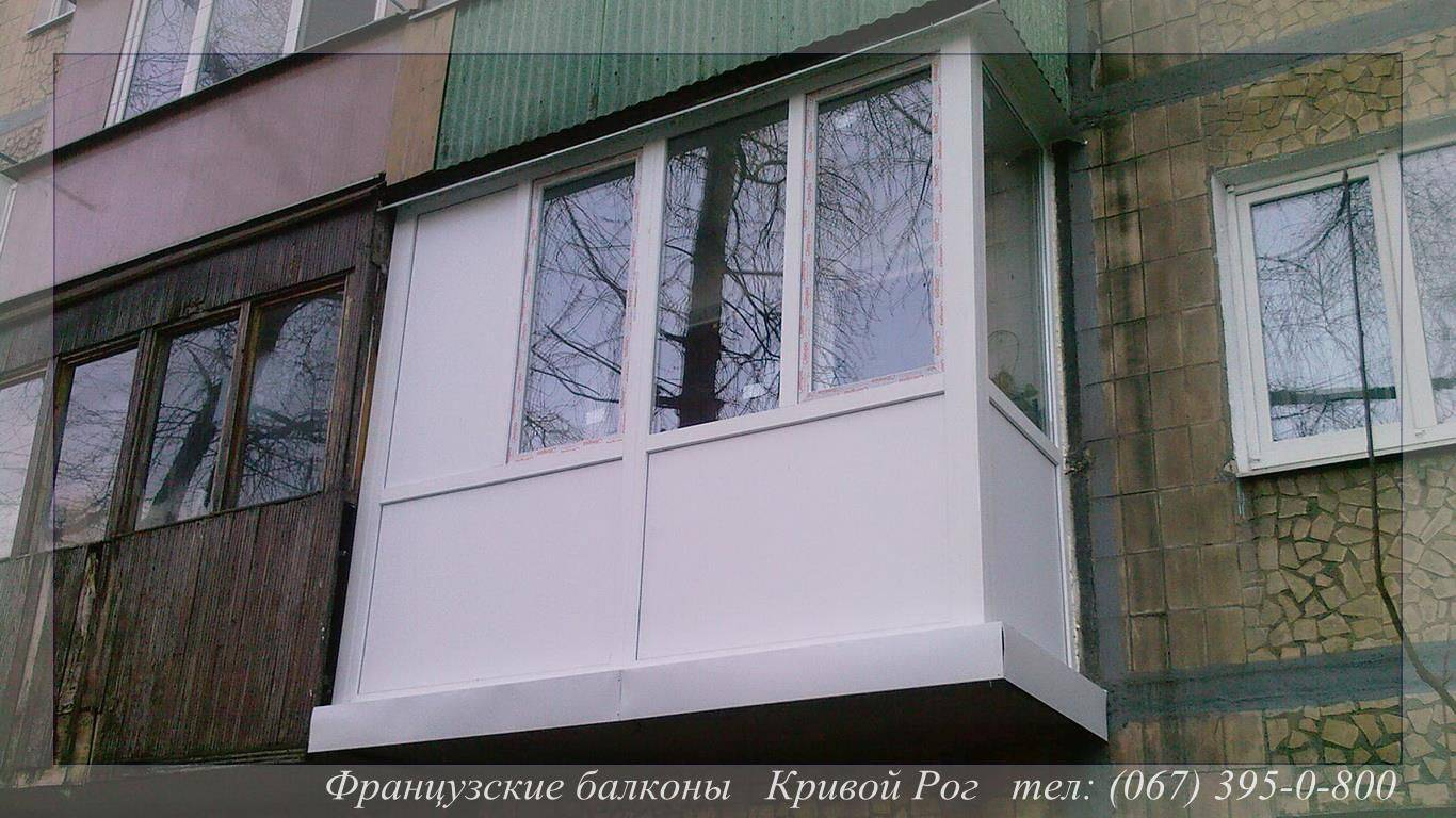 Французски балкон с боковой термопанелью