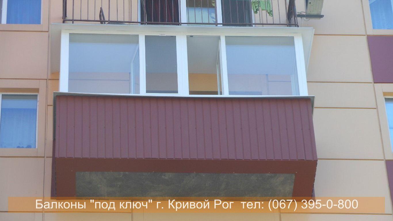 Фото обшивки балкона с улицы